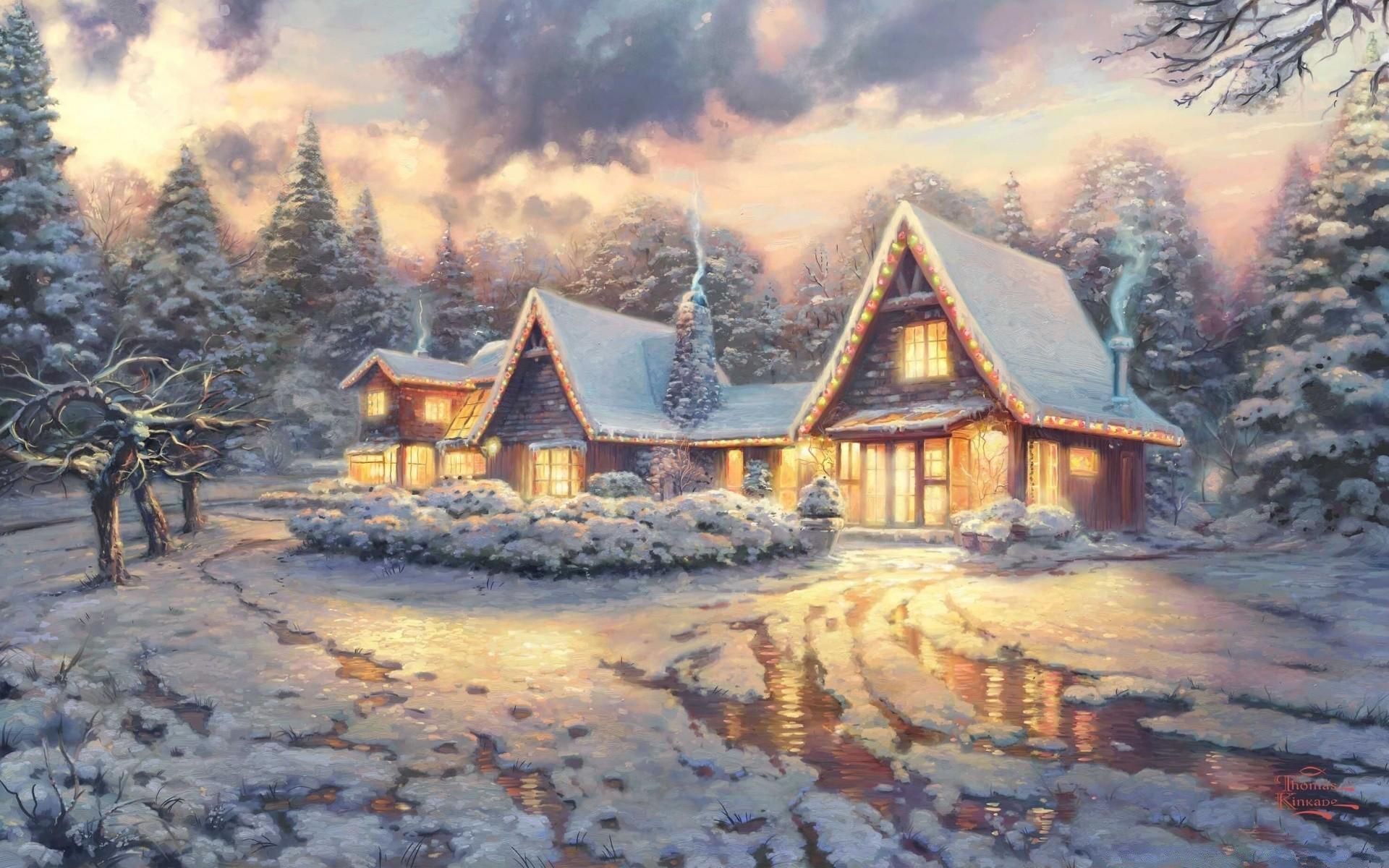 С природой новогодние открытки, загрузить открытки