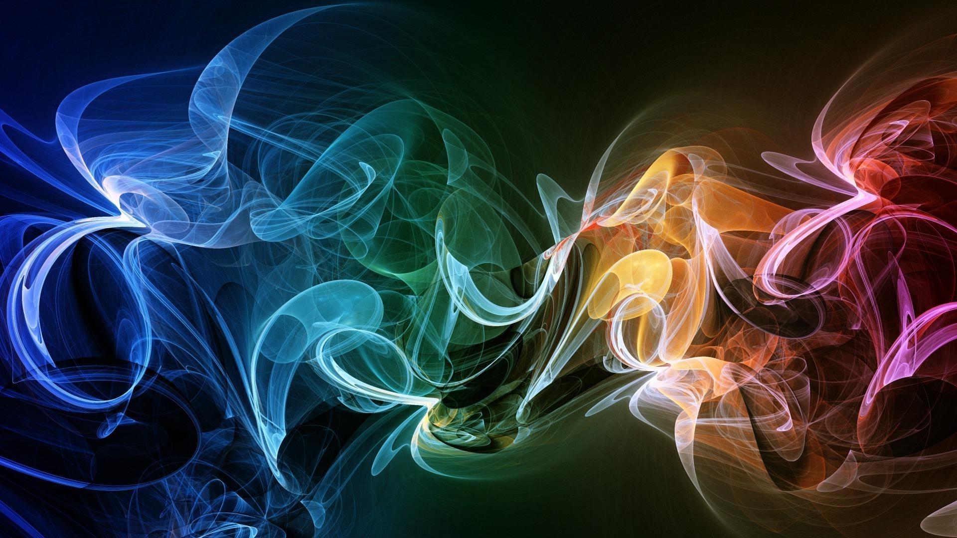 Обои дым, свет, Цвет, фрактал. Абстракции foto 14