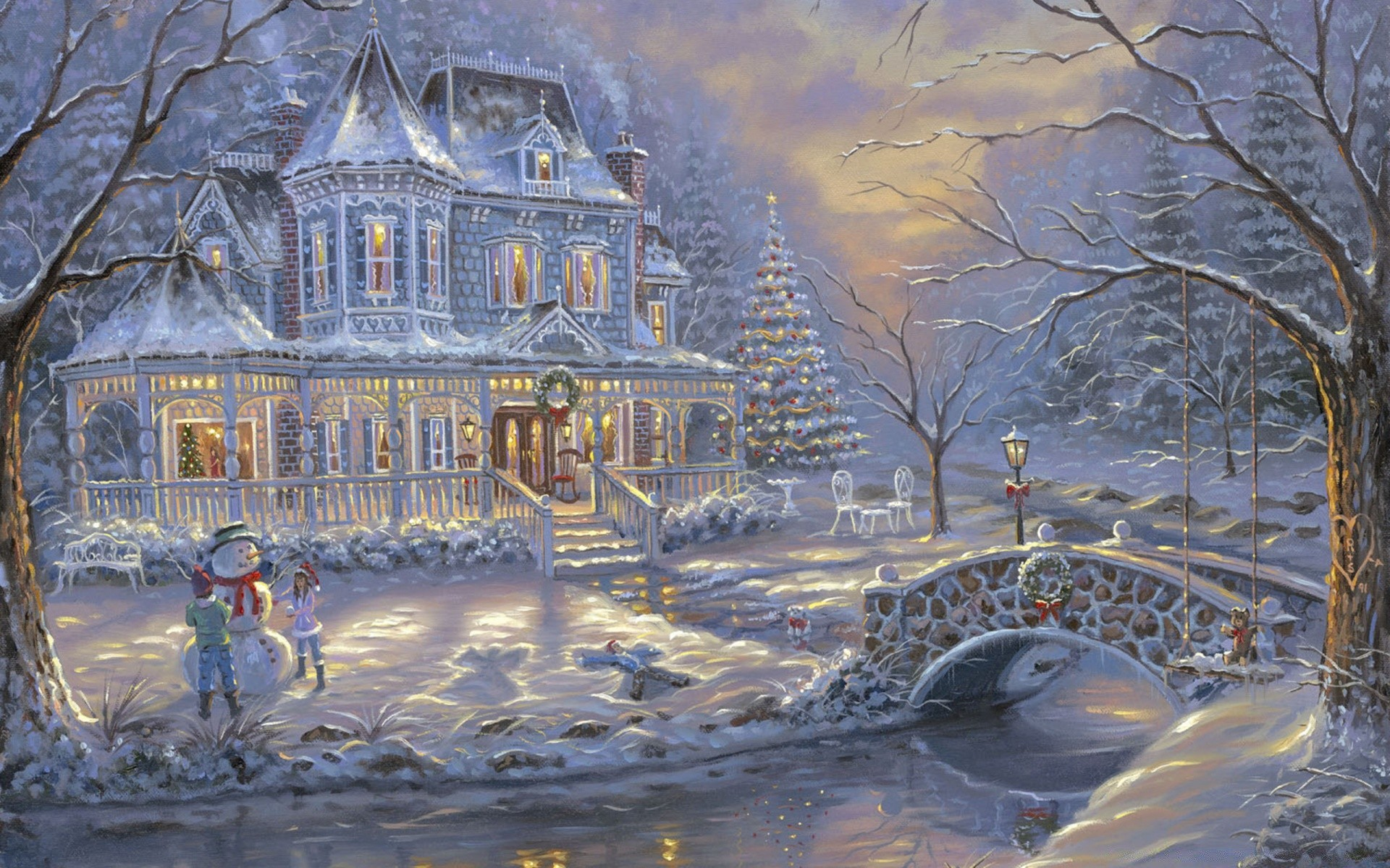 Фото, красивые открытки зимний пейзаж