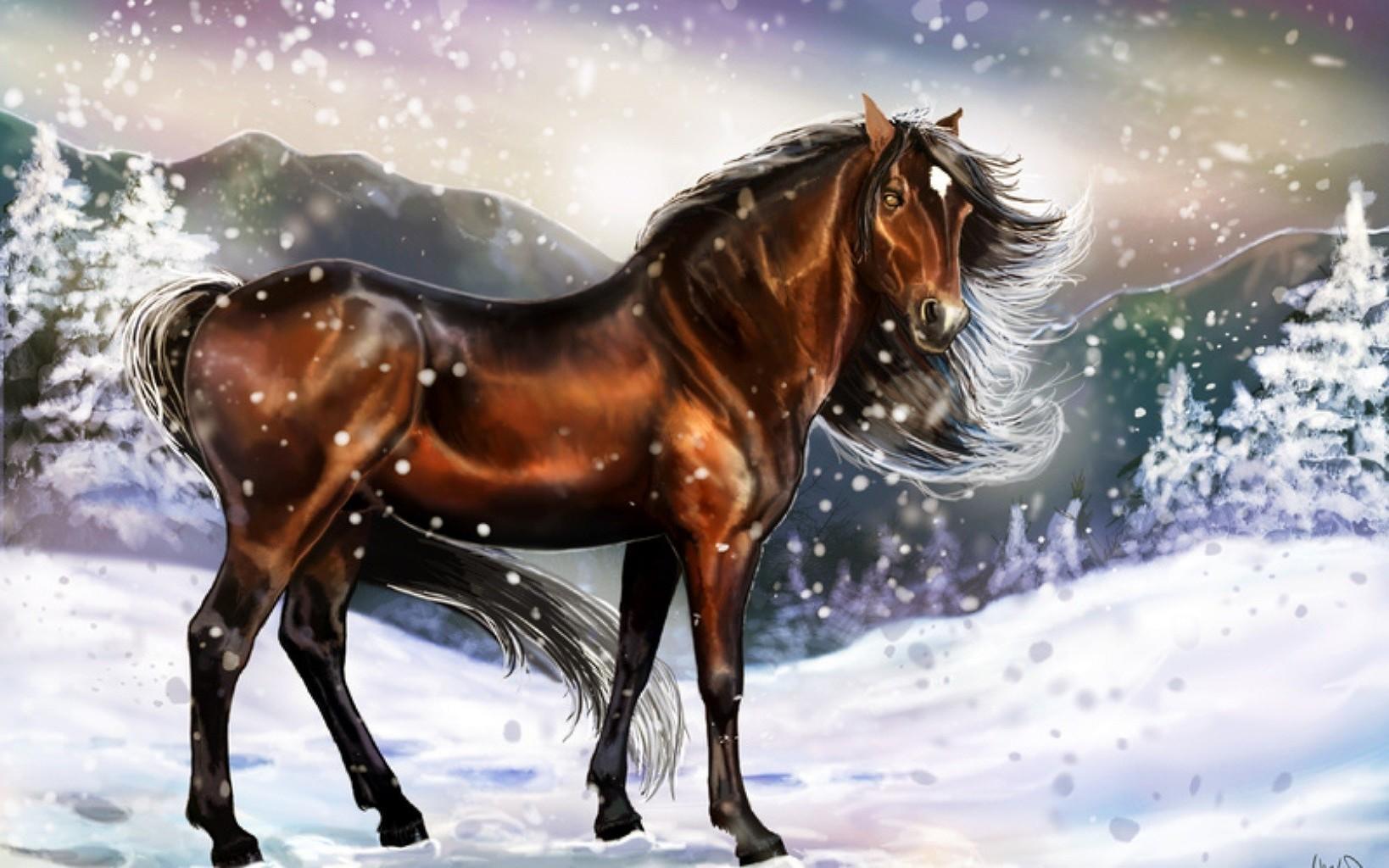 год лошади обои для рабочего стола № 528488 бесплатно