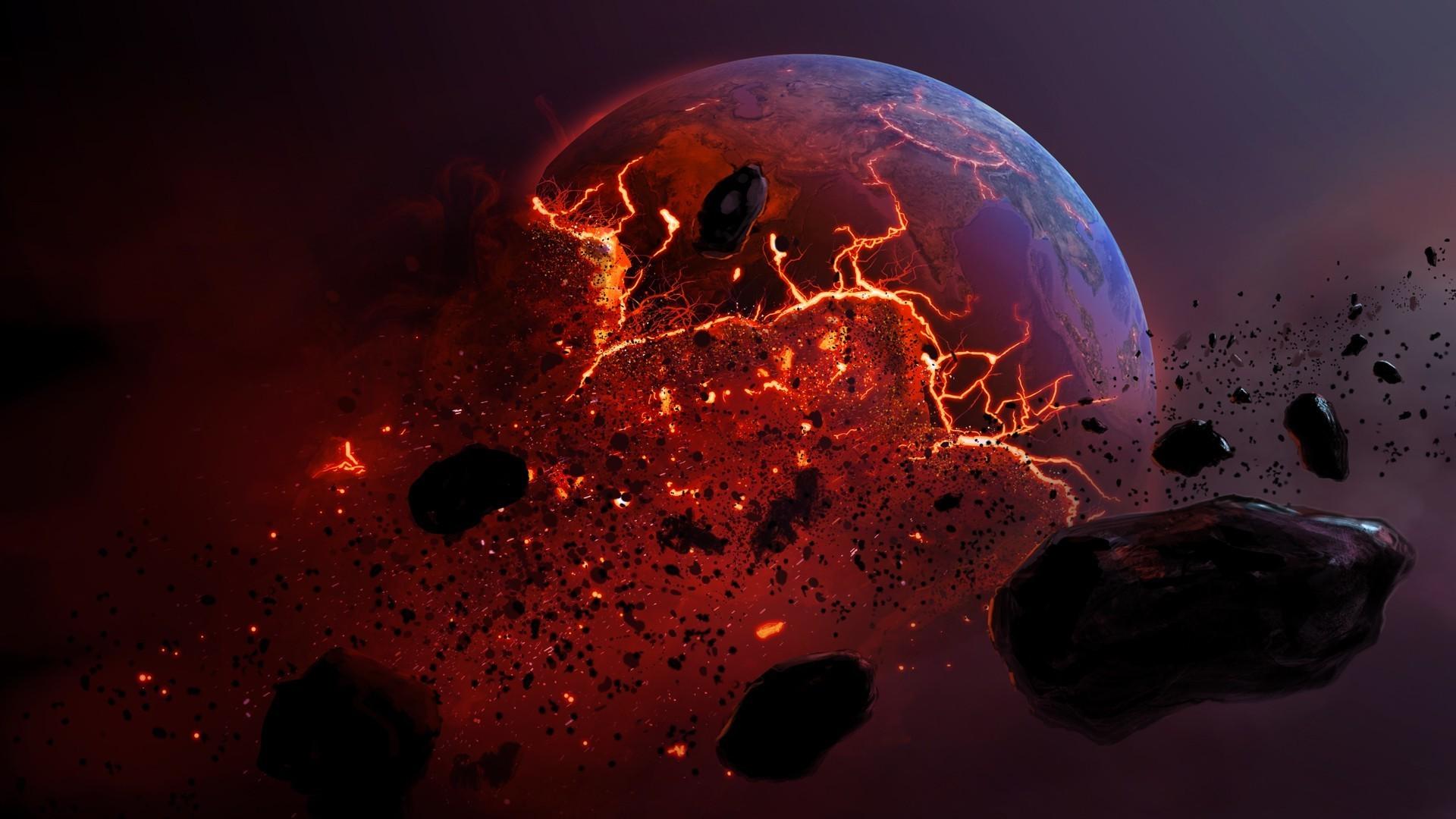 Обои огненная планета картинки на рабочий стол на тему Космос - скачать  № 433818 загрузить