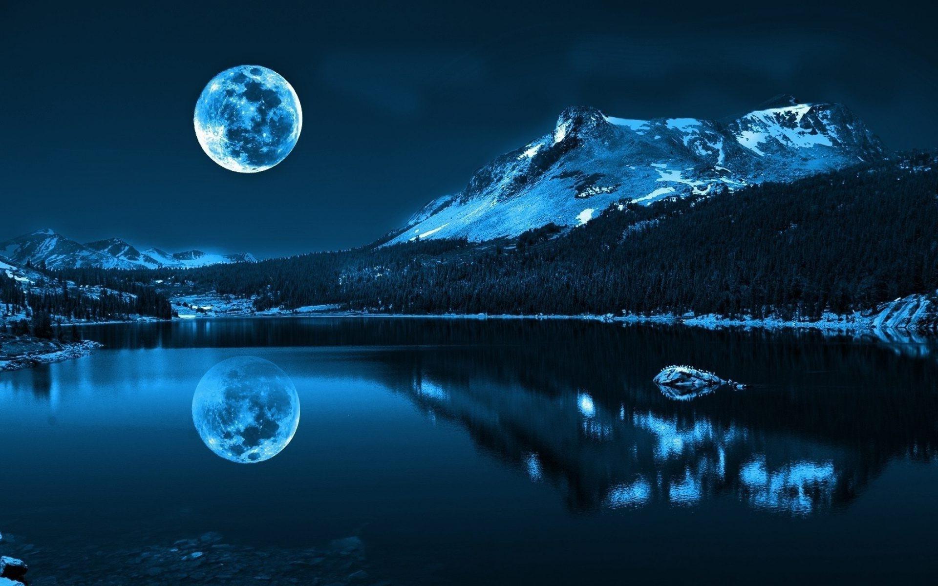 гора ночь свет озеро без смс