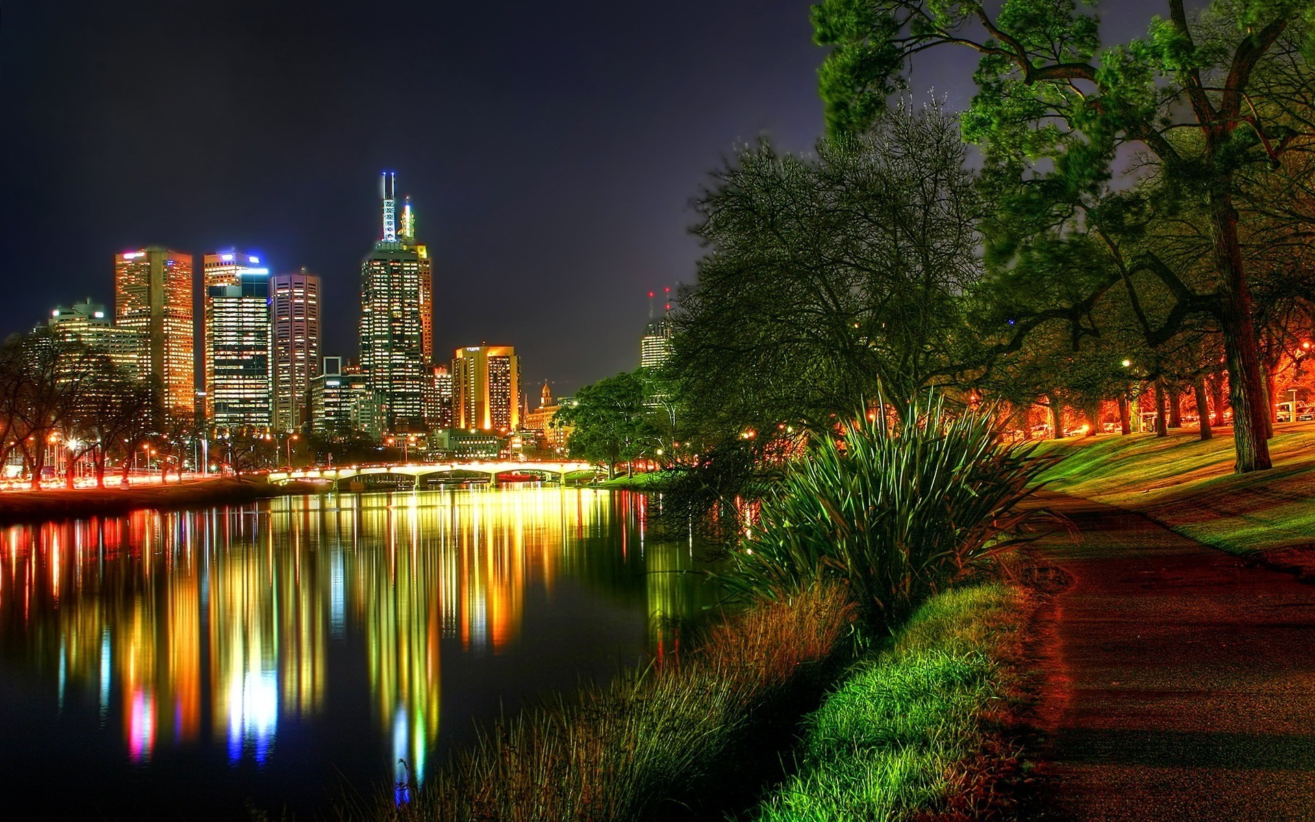 Обои ночные города, архитектура, парки, города.замки. Города foto 16