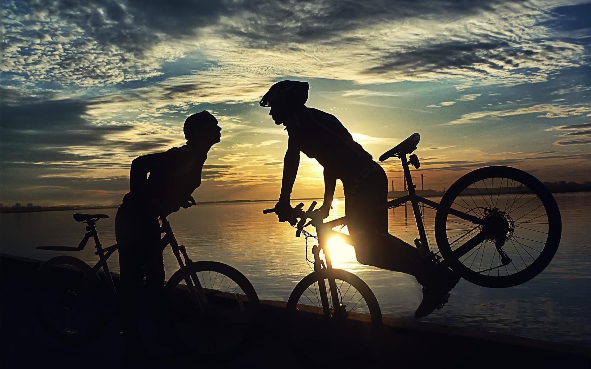 Картинки на велосипеде красивые