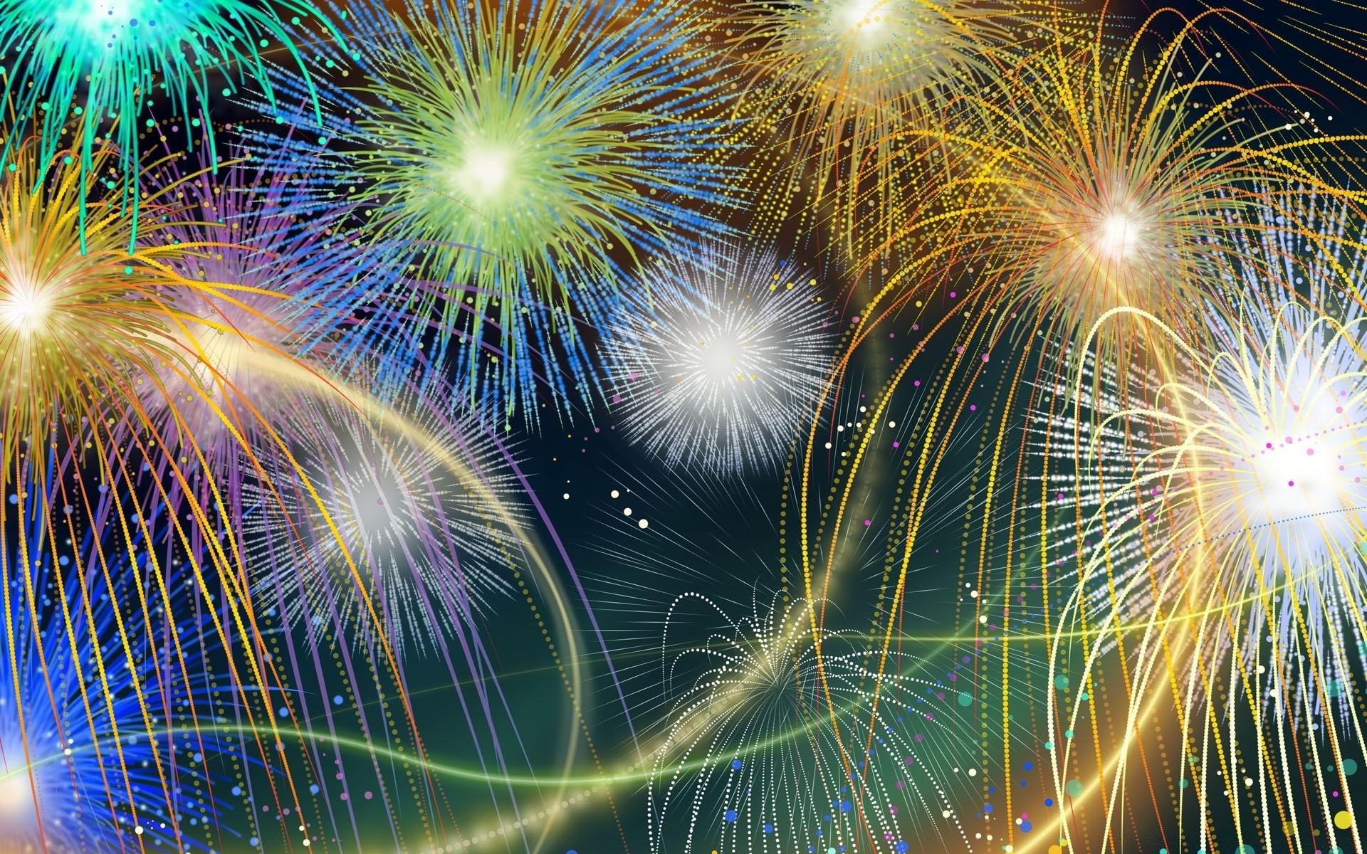 Новым годом, фон для открытки с днем города