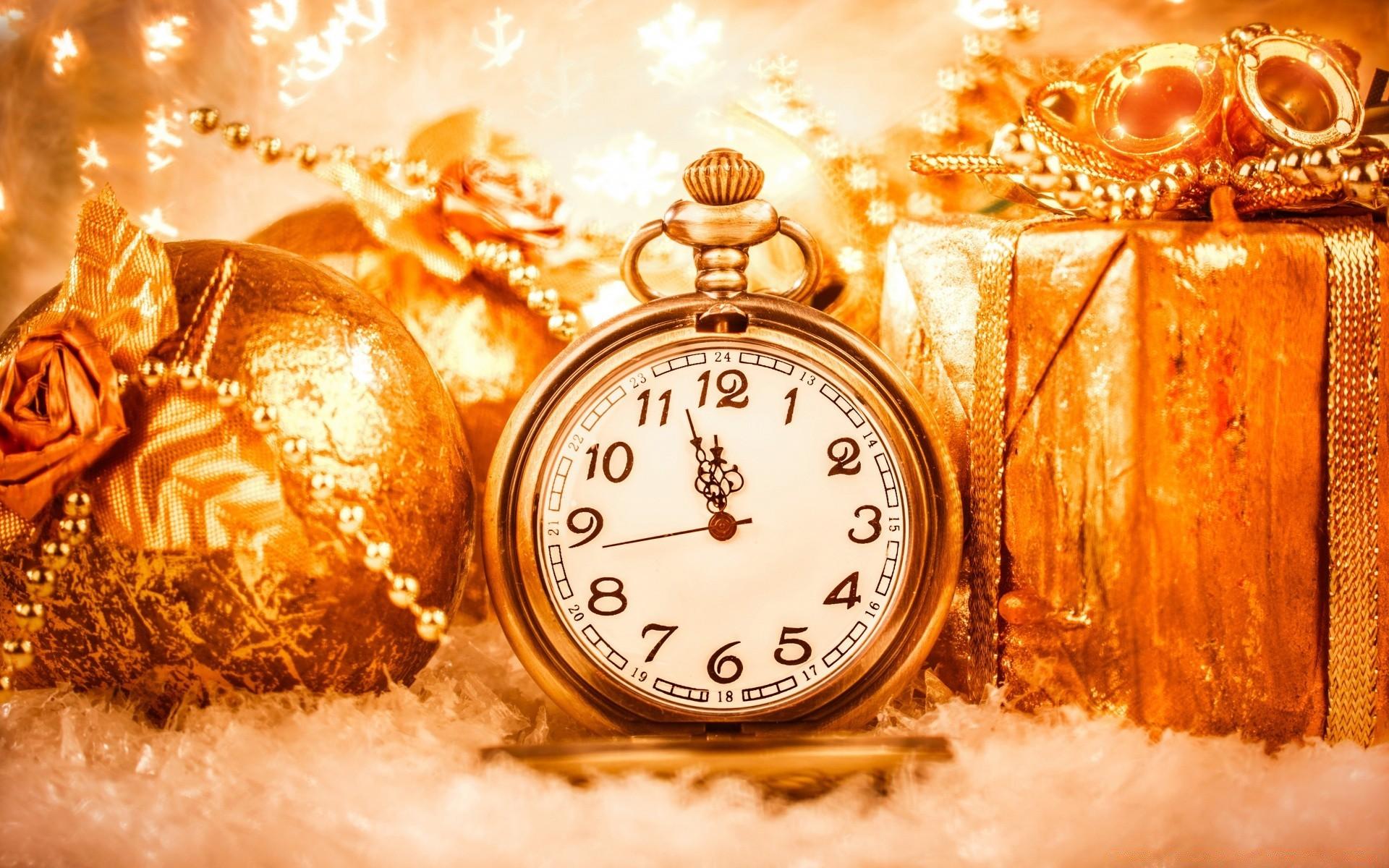 Поздравлением дня, новогодние открытки с часами фото