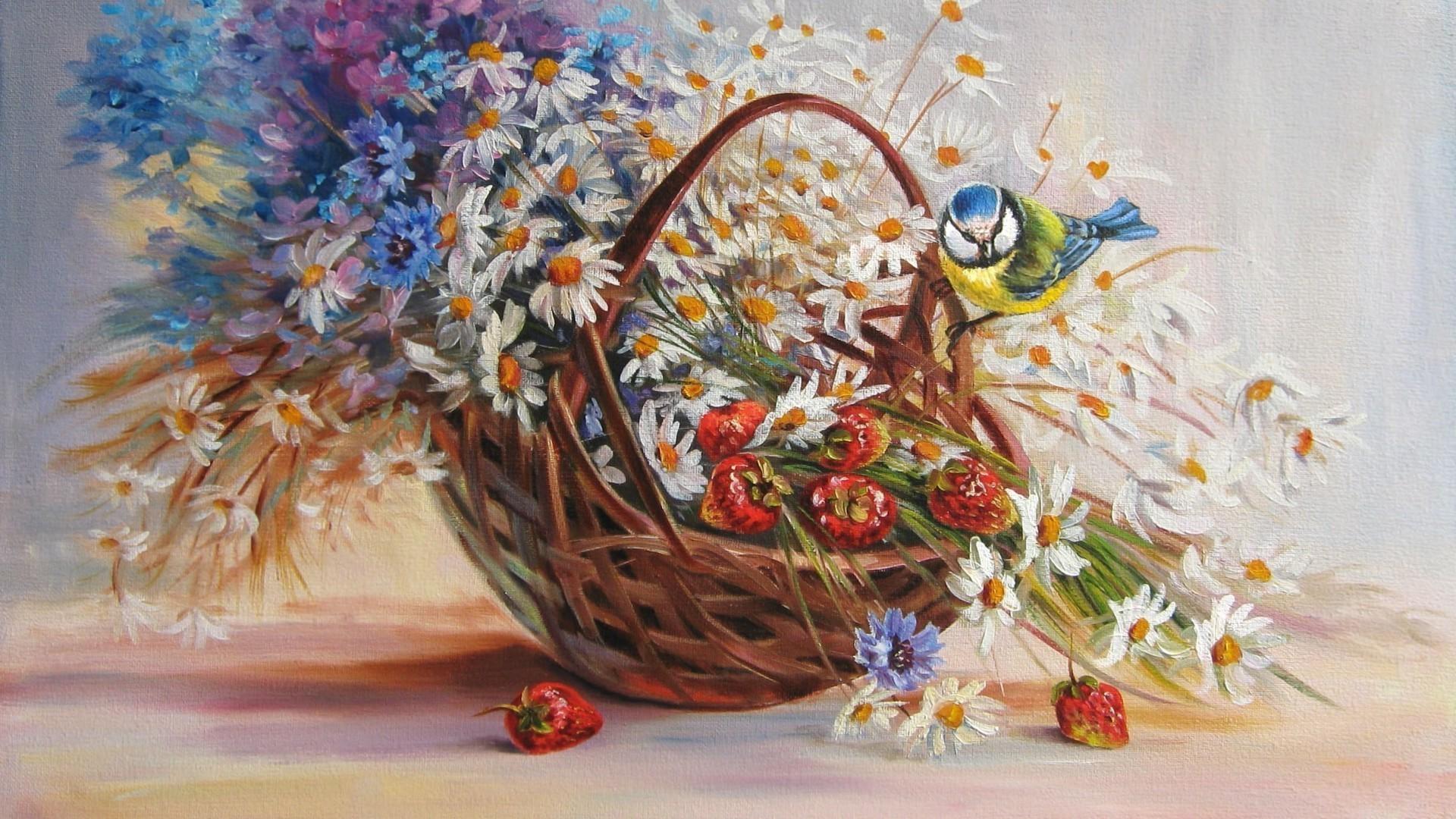 С днем рождения открытка живопись, годом