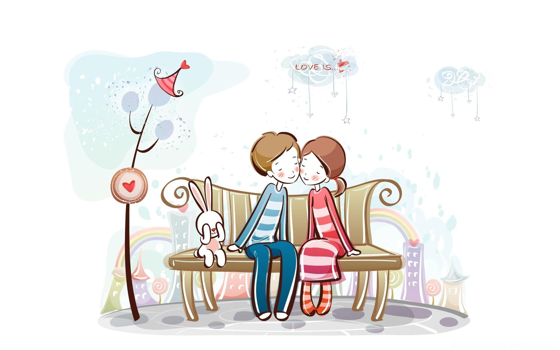 Прикольные рисунки о любви, ночь