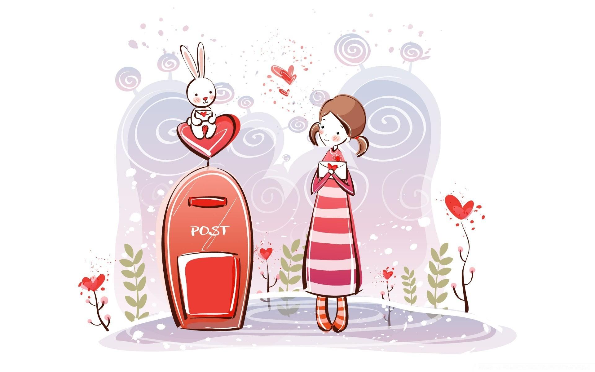 Поцелуи воздушные открытки