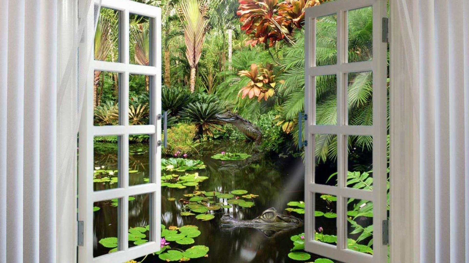 Обои Пейзаж, окно, стекло. Абстракции foto 16