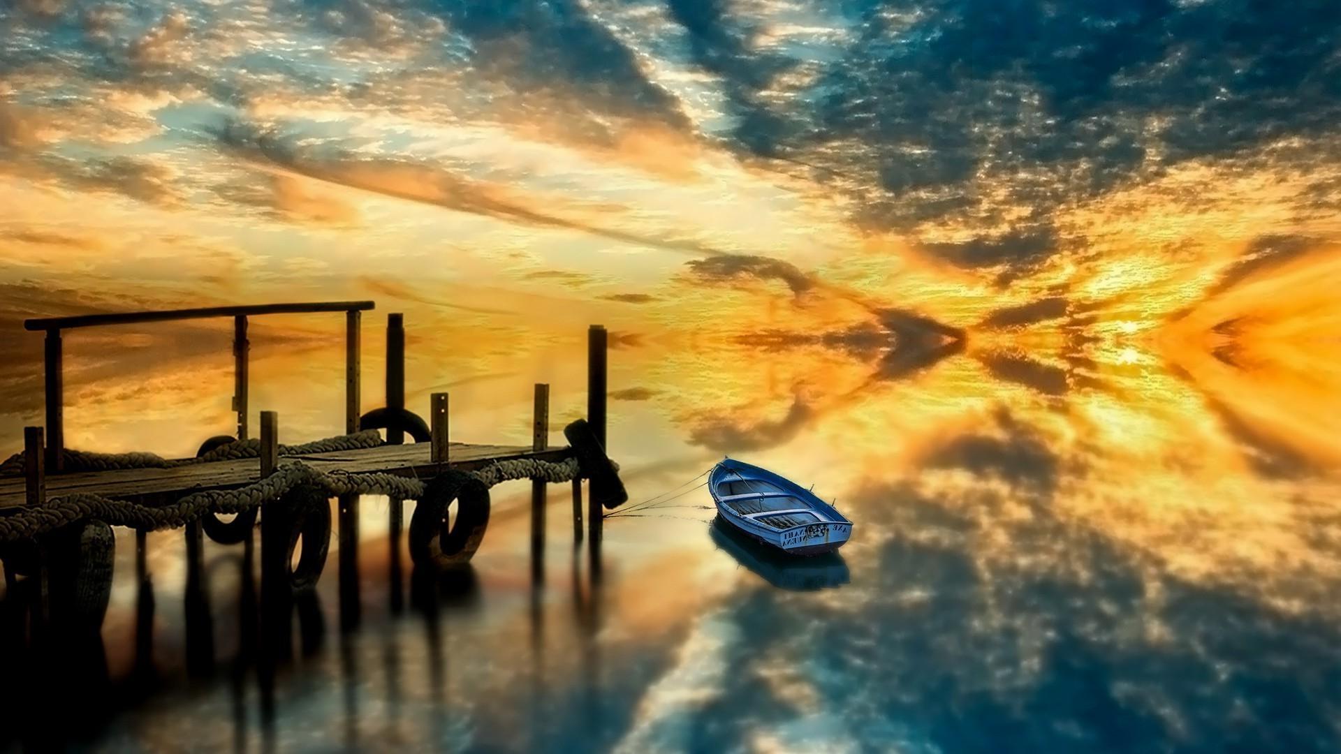 Картинки на рабочий стол лодка на воде