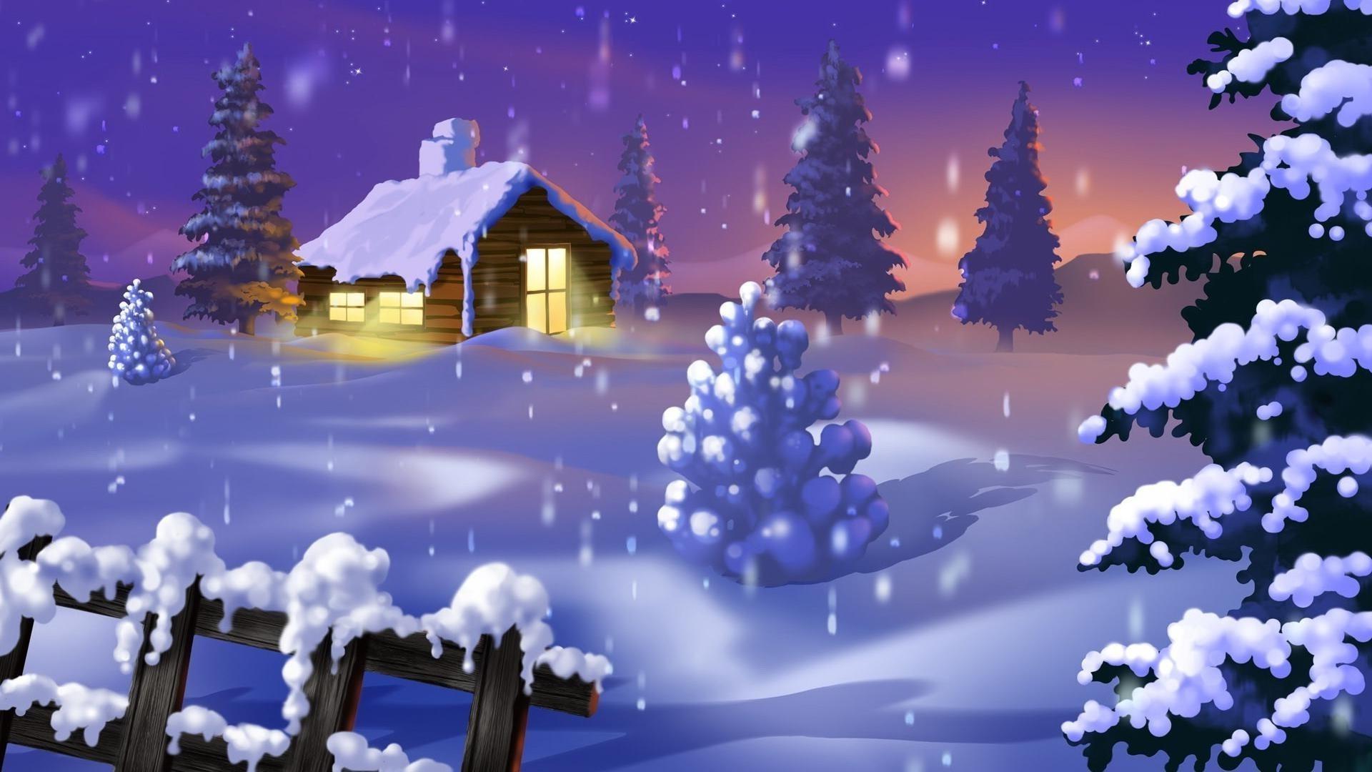 Картинки на телефон анимация снег