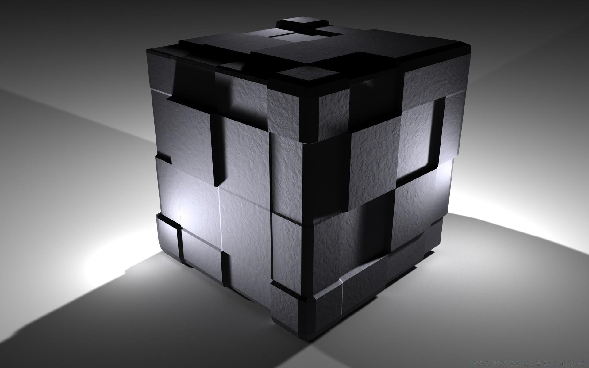 картинка для рабочего стола черные кубы попова