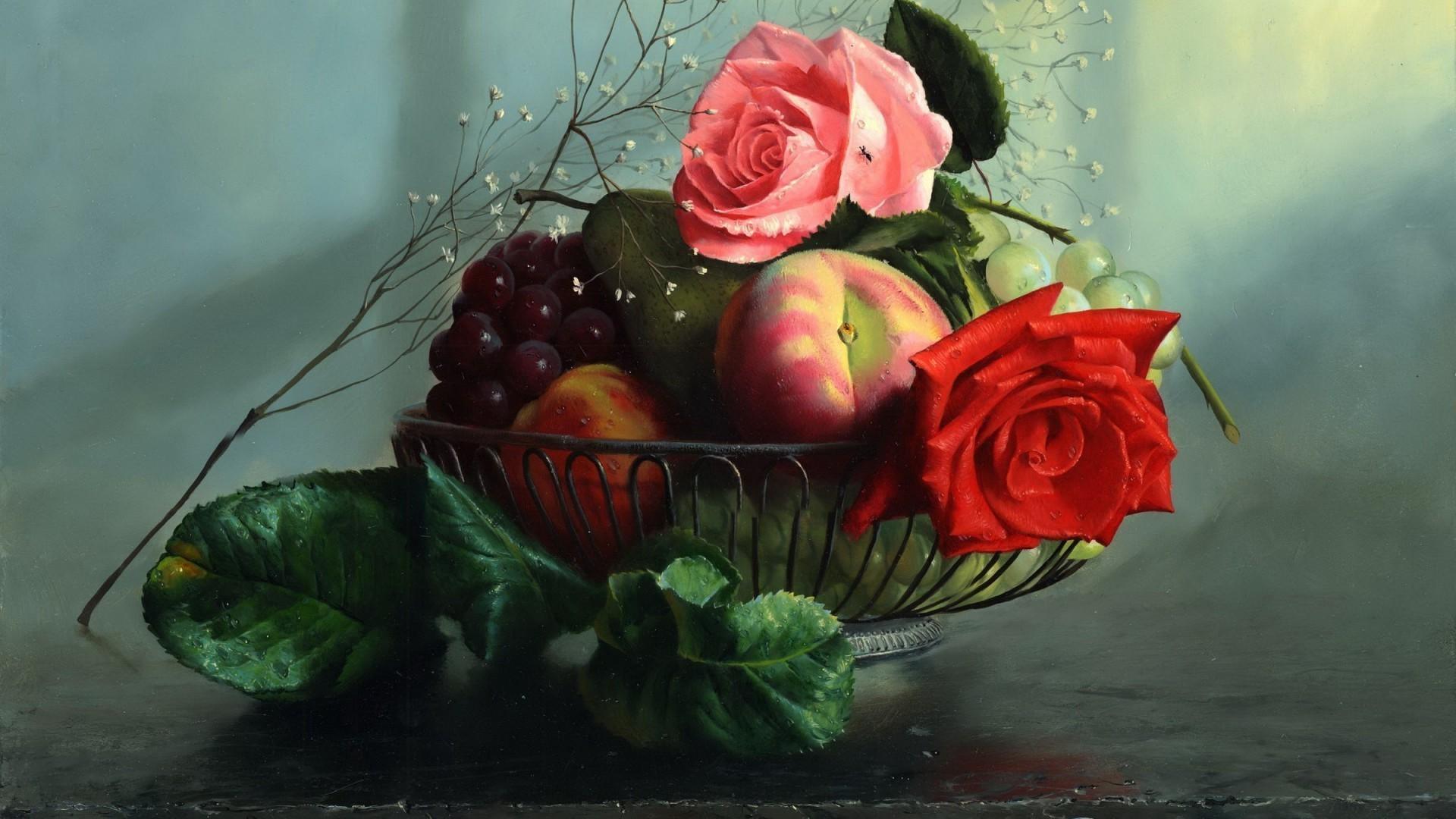 обои для рабочего стола фрукты и цветы