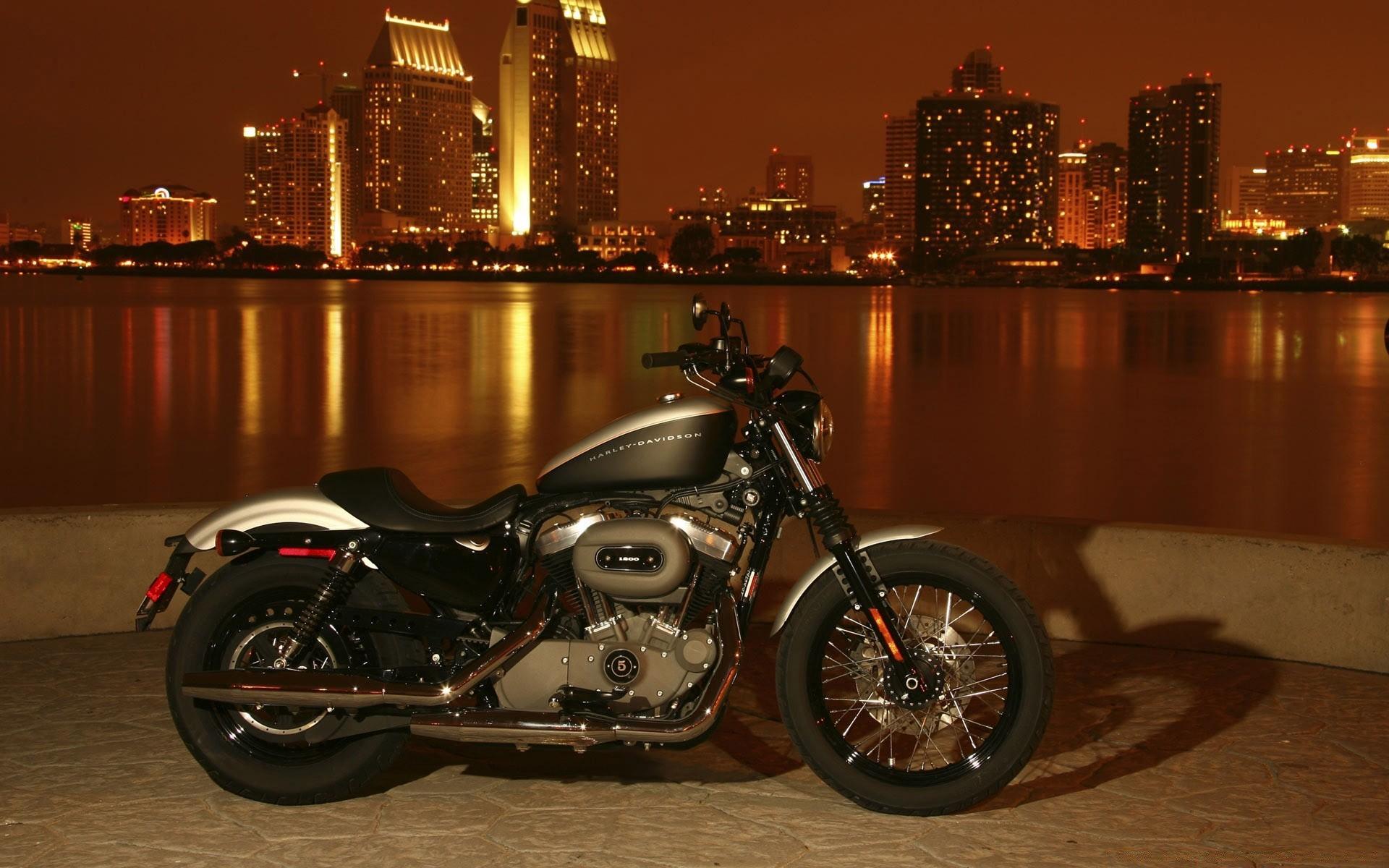 мотоцикл ночь город загрузить