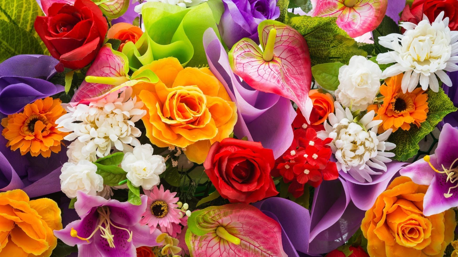 Днем рождения, картинка с очень красивыми цветами