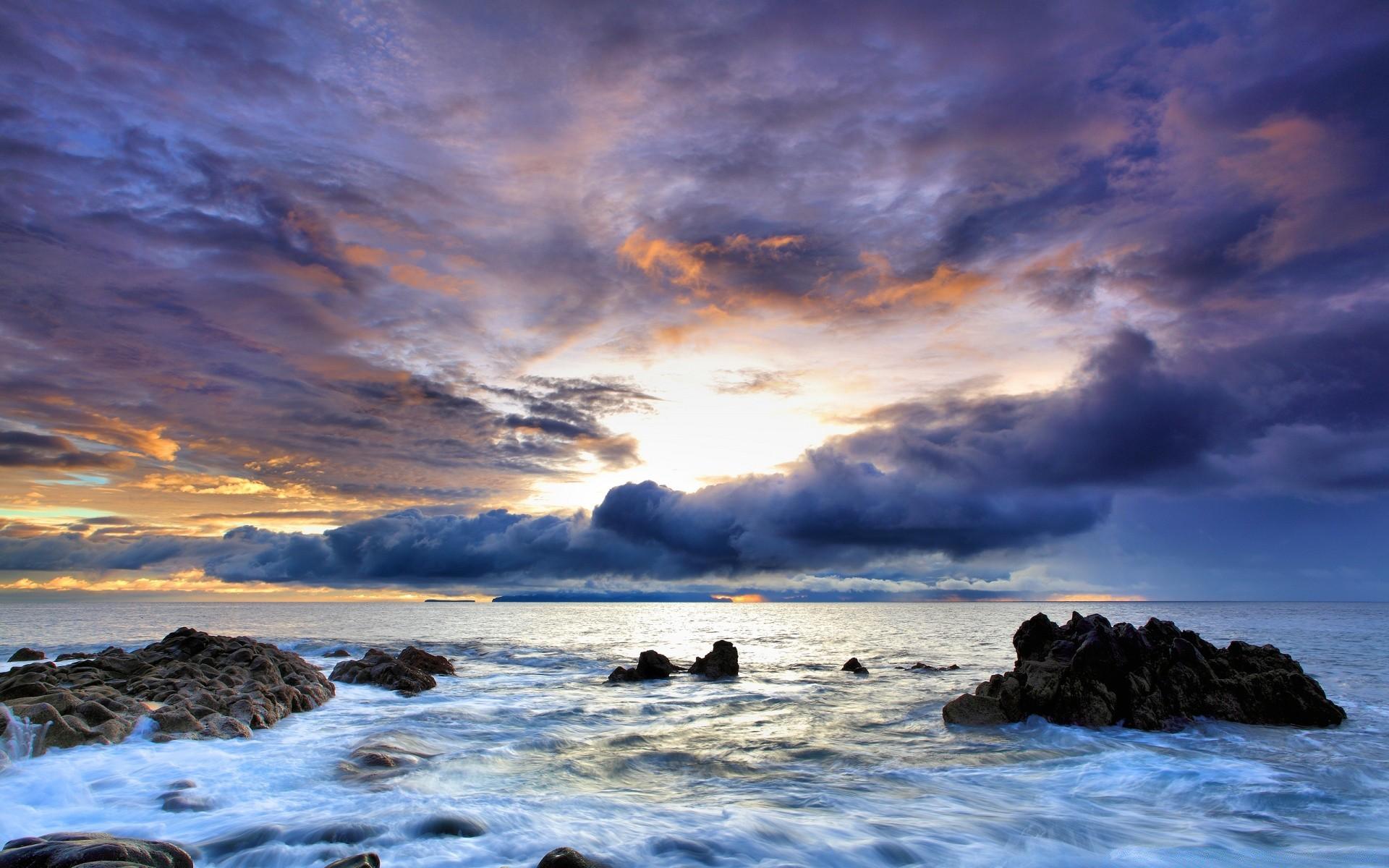 фото морского заката в высоком качестве