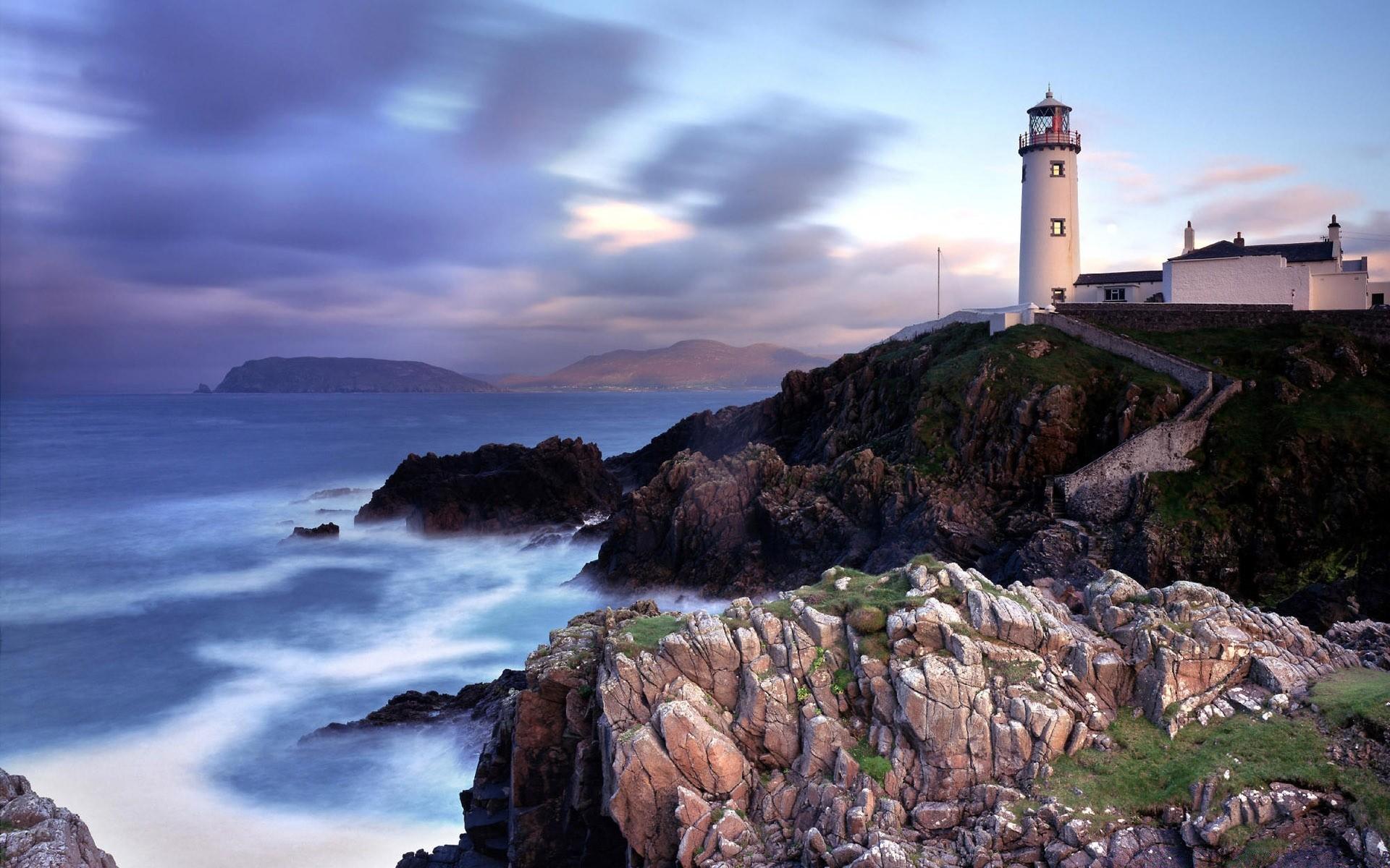 природа маяк море скалы бесплатно