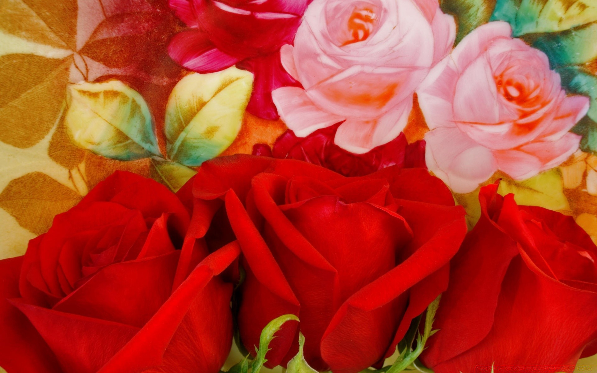 Флэш открытка с розами, съел