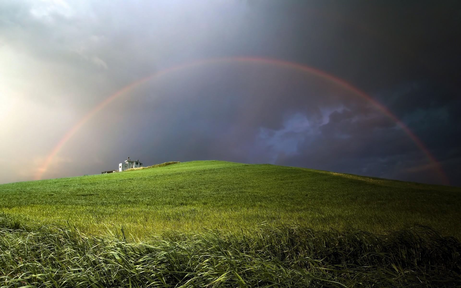 Анимация радуга над полем, картинки спокойной