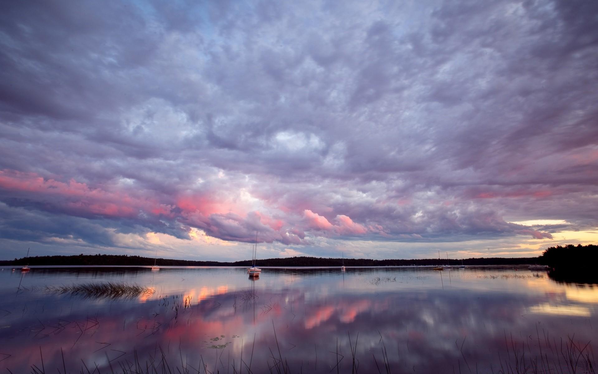 Обои вечернее небо, замок, пруд. Города foto 9