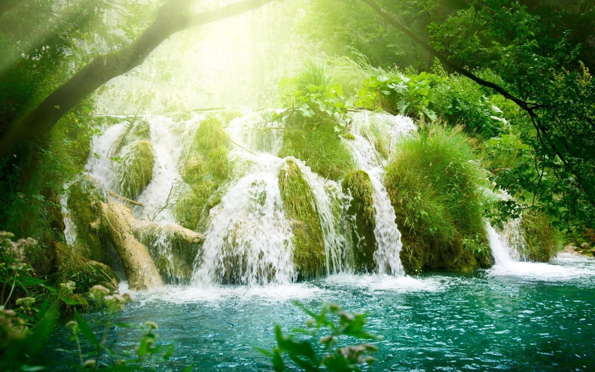 Обои красиво, водопад, Вода. Природа foto 17