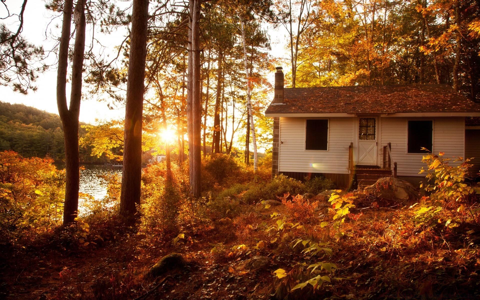 Картинки осень дом на рабочий стол