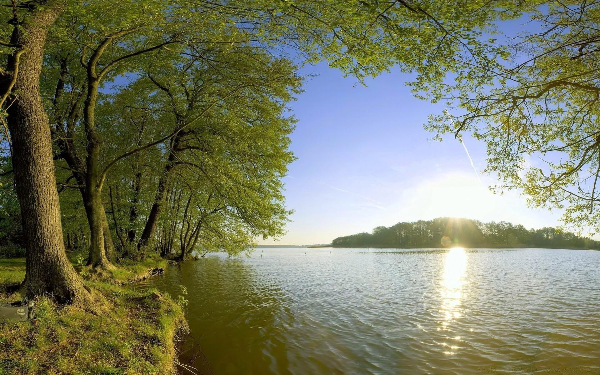 значительно разнообразит фото деревья и река на рабочий стол после проявки