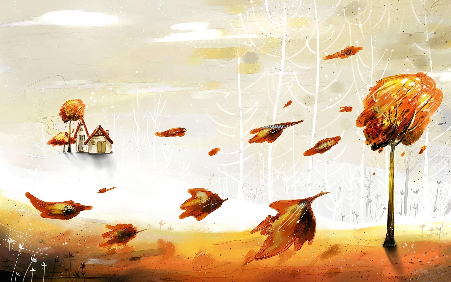 Фон, прикольные рисунки на тему осень