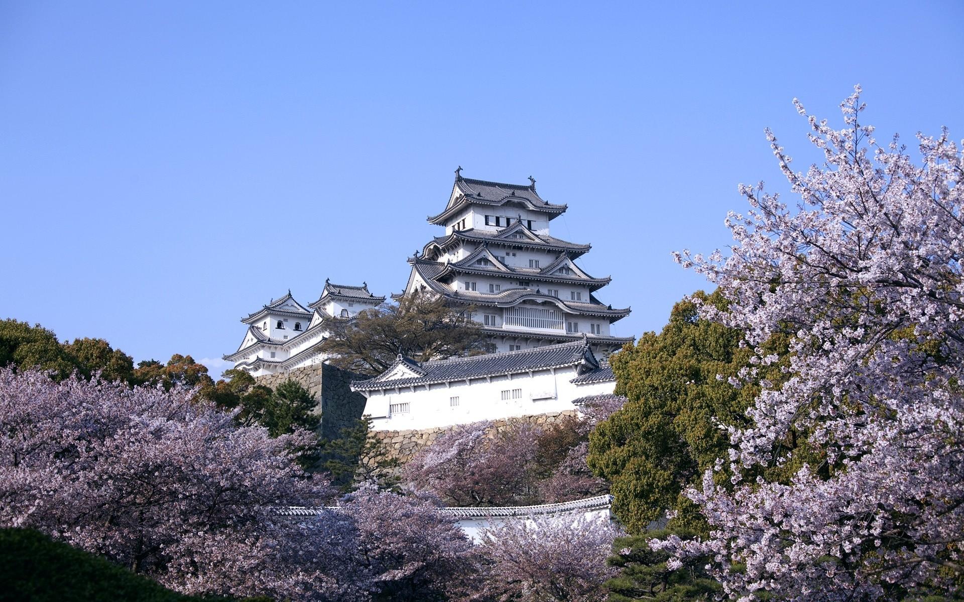 Обои для рабочего стола японские замки