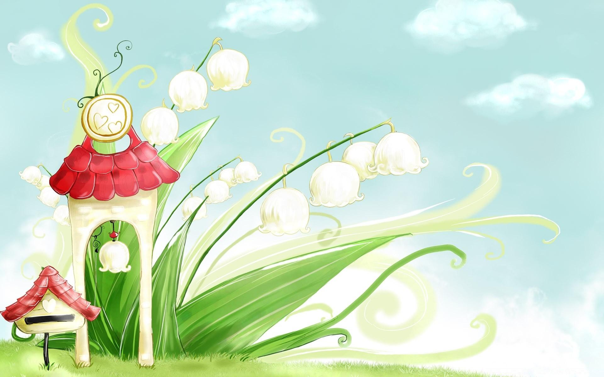Крестному днем, фон весенней открытки