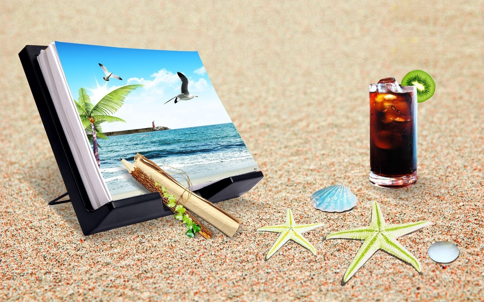 картинки на стол отпуск читает
