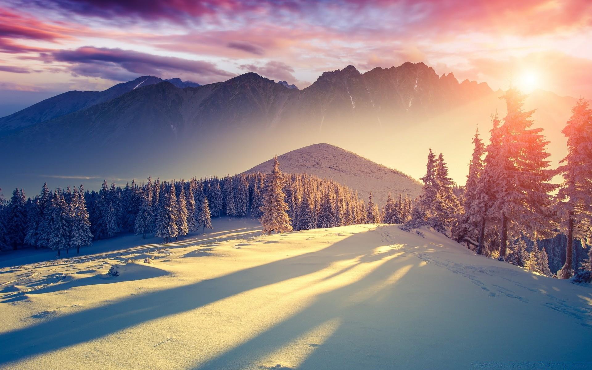 снежные горы небо солнце без смс