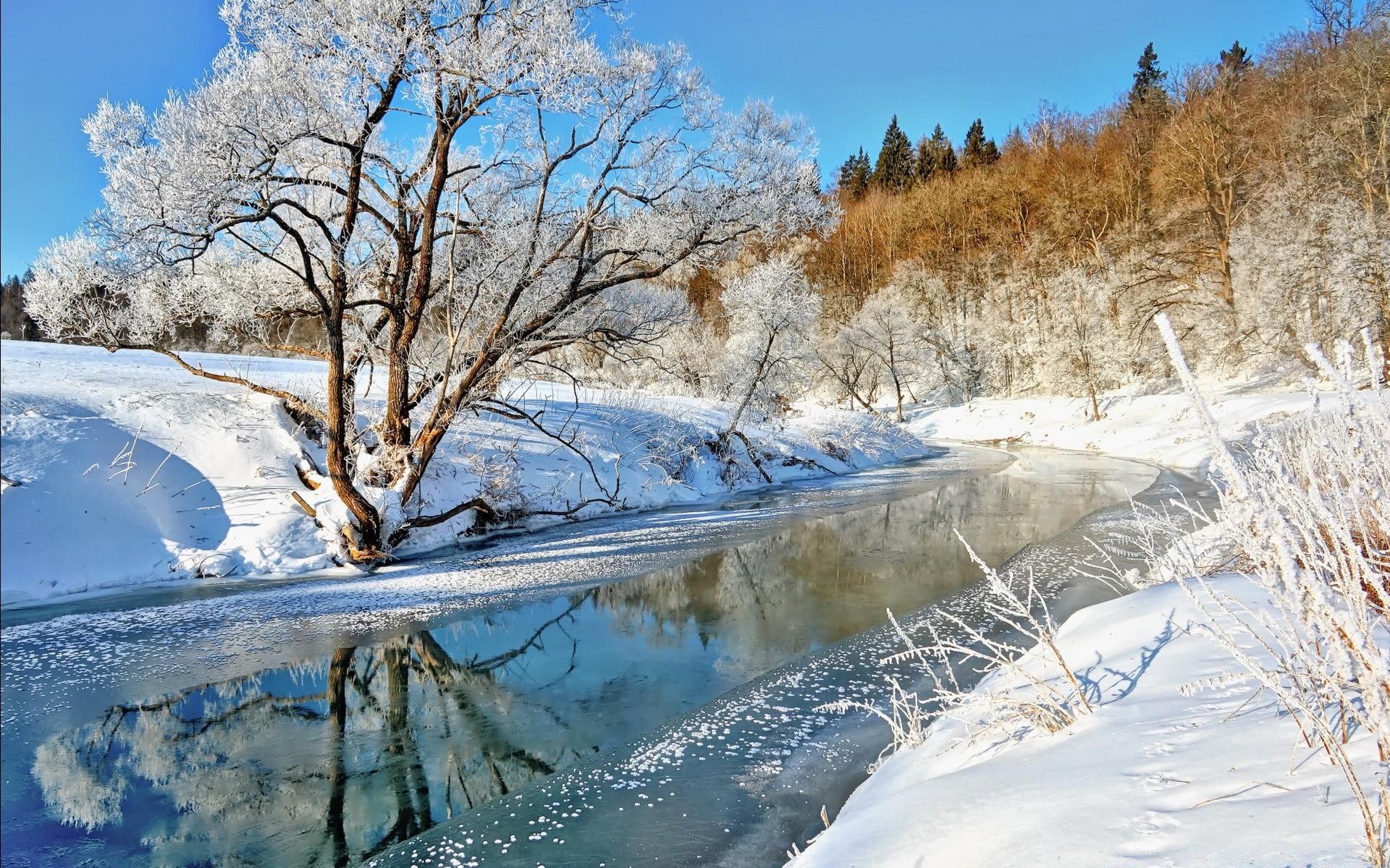 речка мороз зима the river frost winter  № 456378 без смс