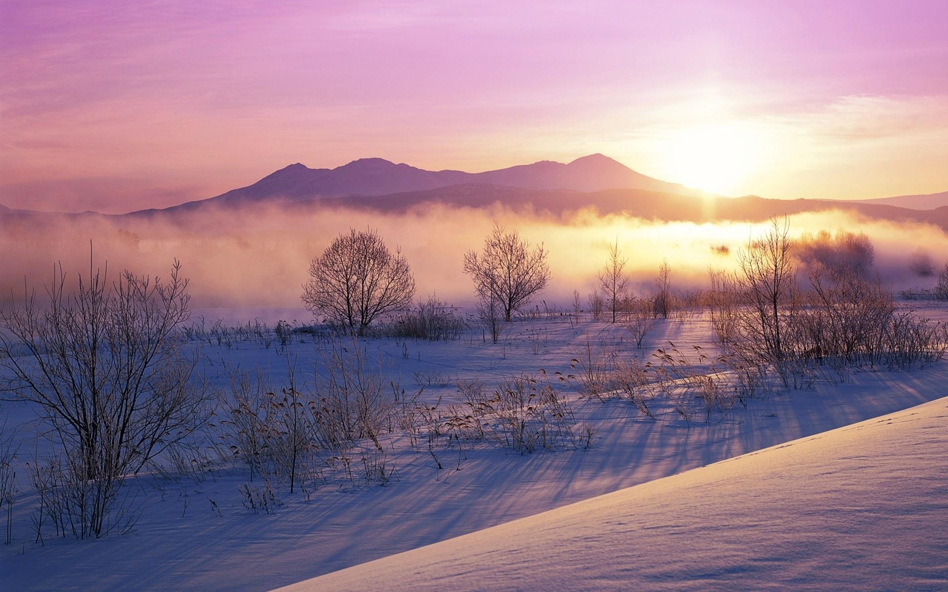 Рассвет зимой картинки