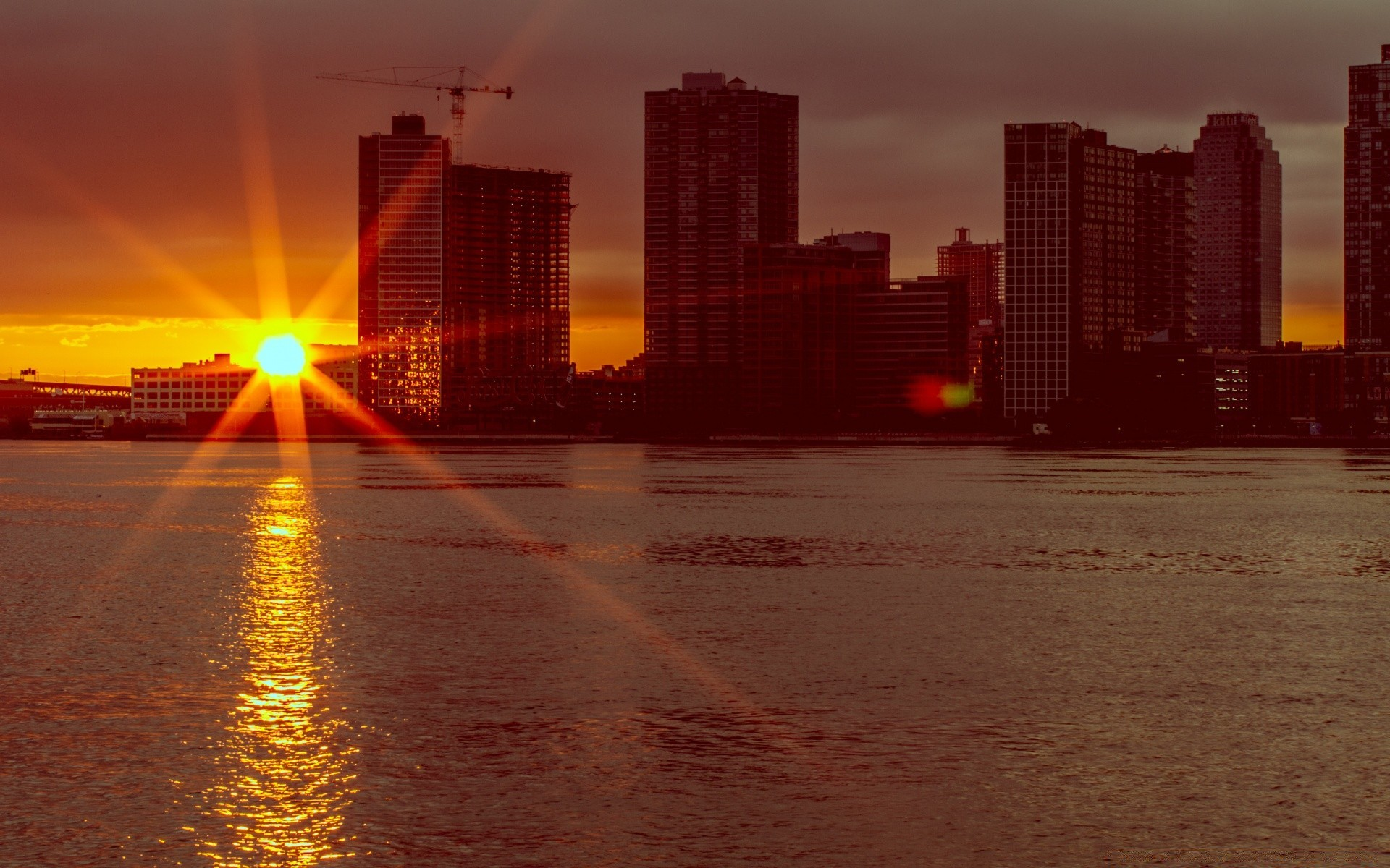 если город рассвет фото обои на телефон подборку