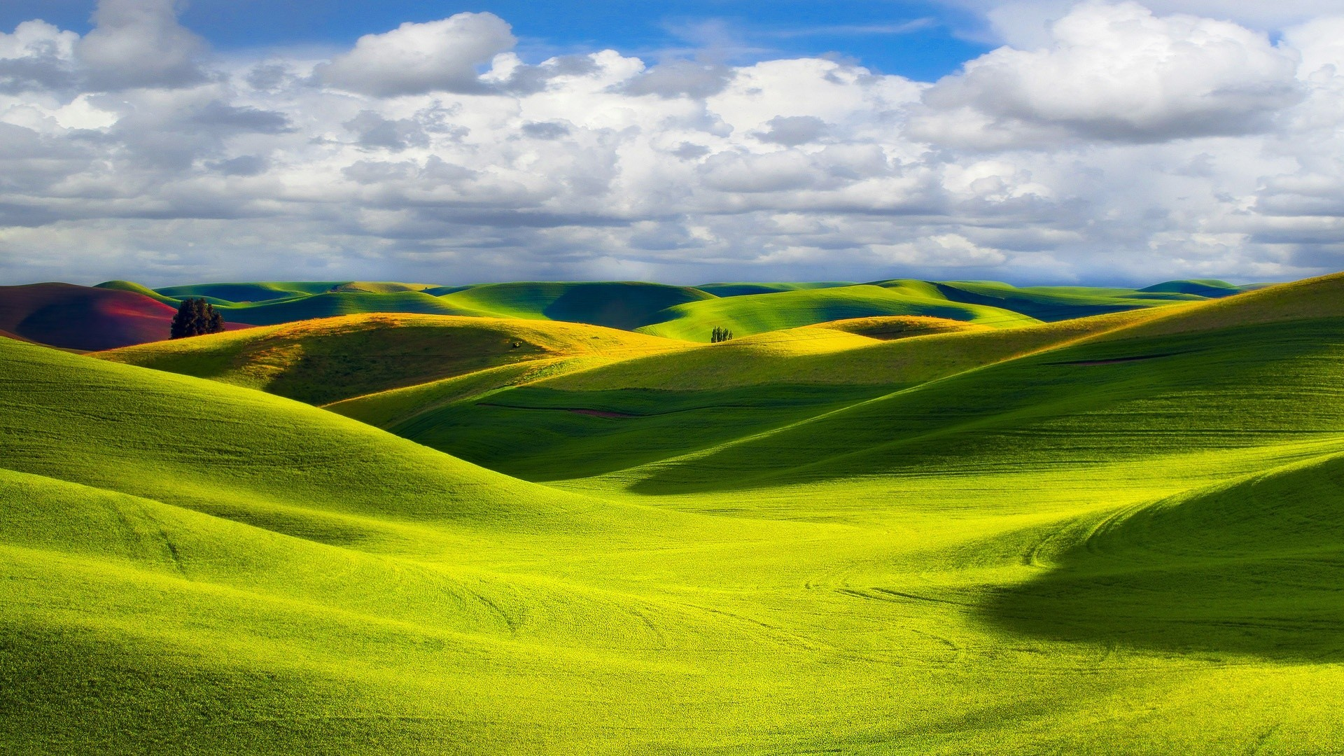 холм зелень лето небо бесплатно