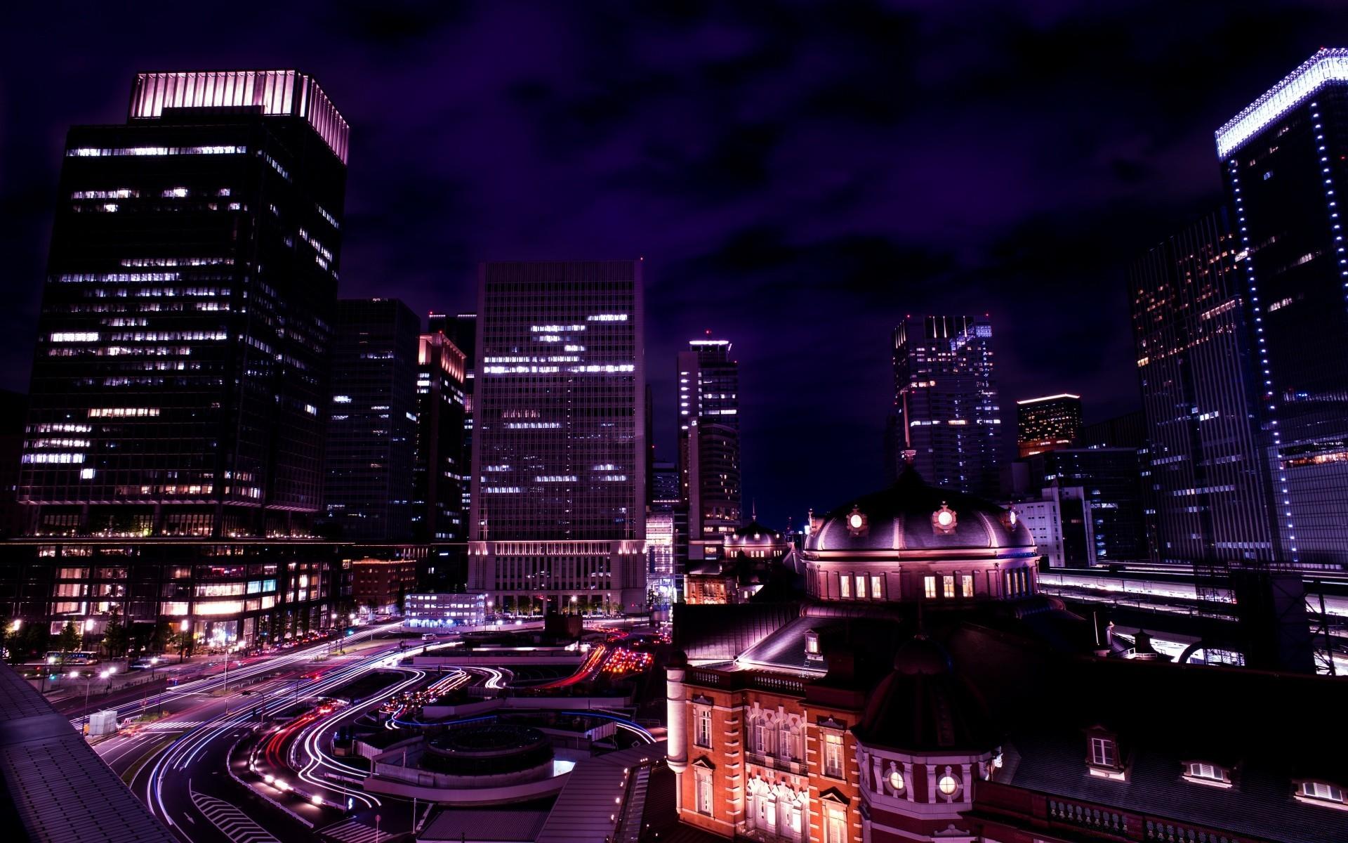Обои ночь, Япония. Города foto 12