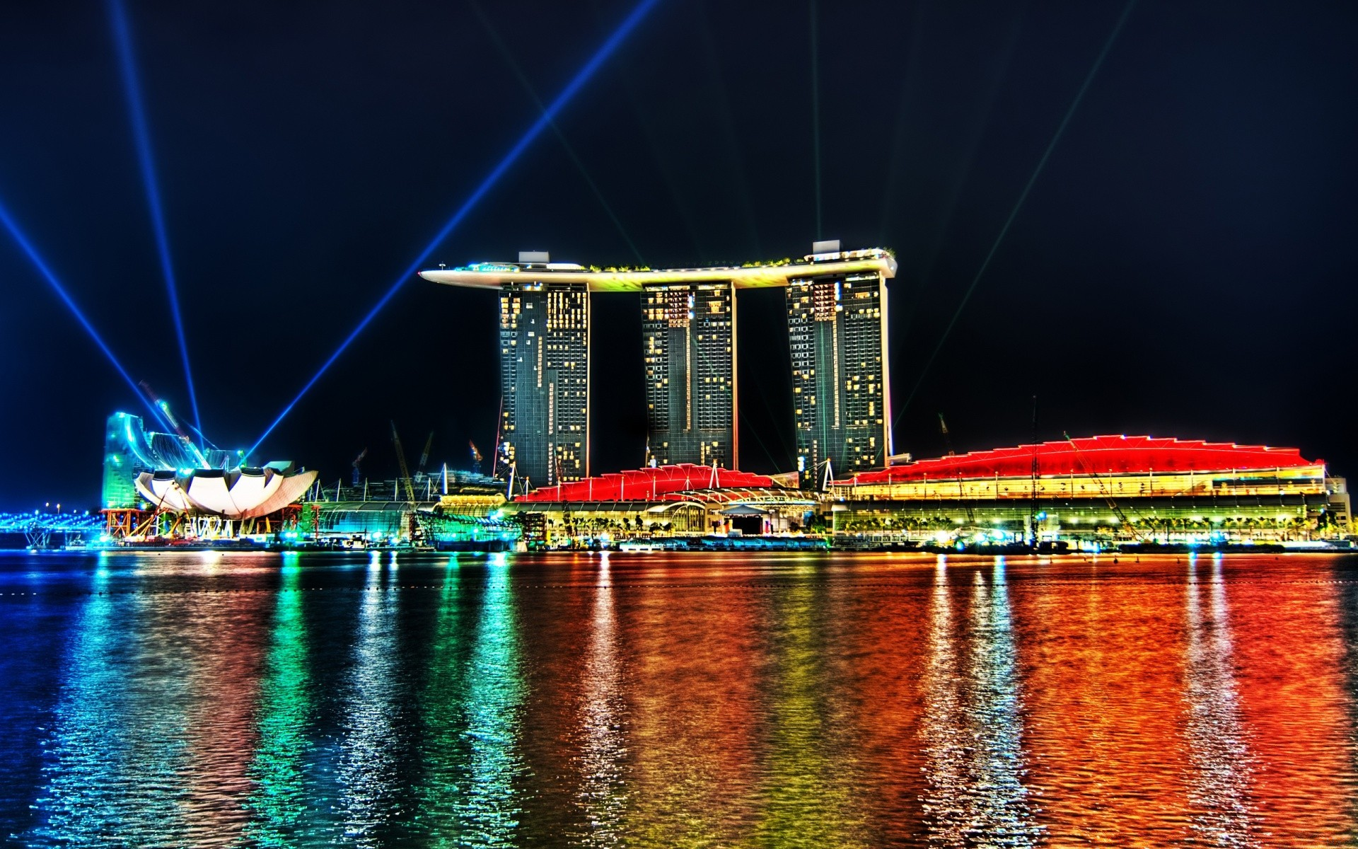 Marina Bay Sands огни