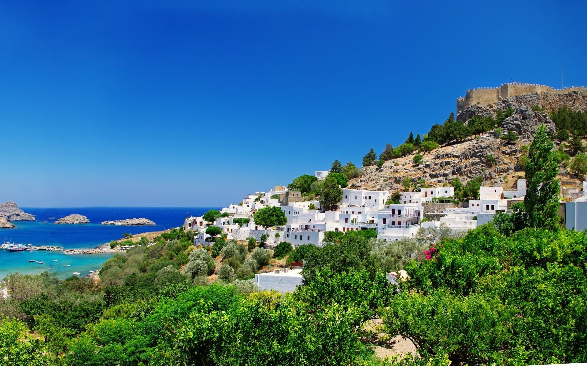 Обои греция, вид на море. Природа foto 19
